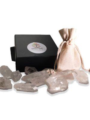 bergkristal punten voor meditatie en zuivering