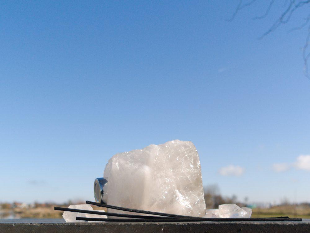 bergkristal edelsteen diffuser