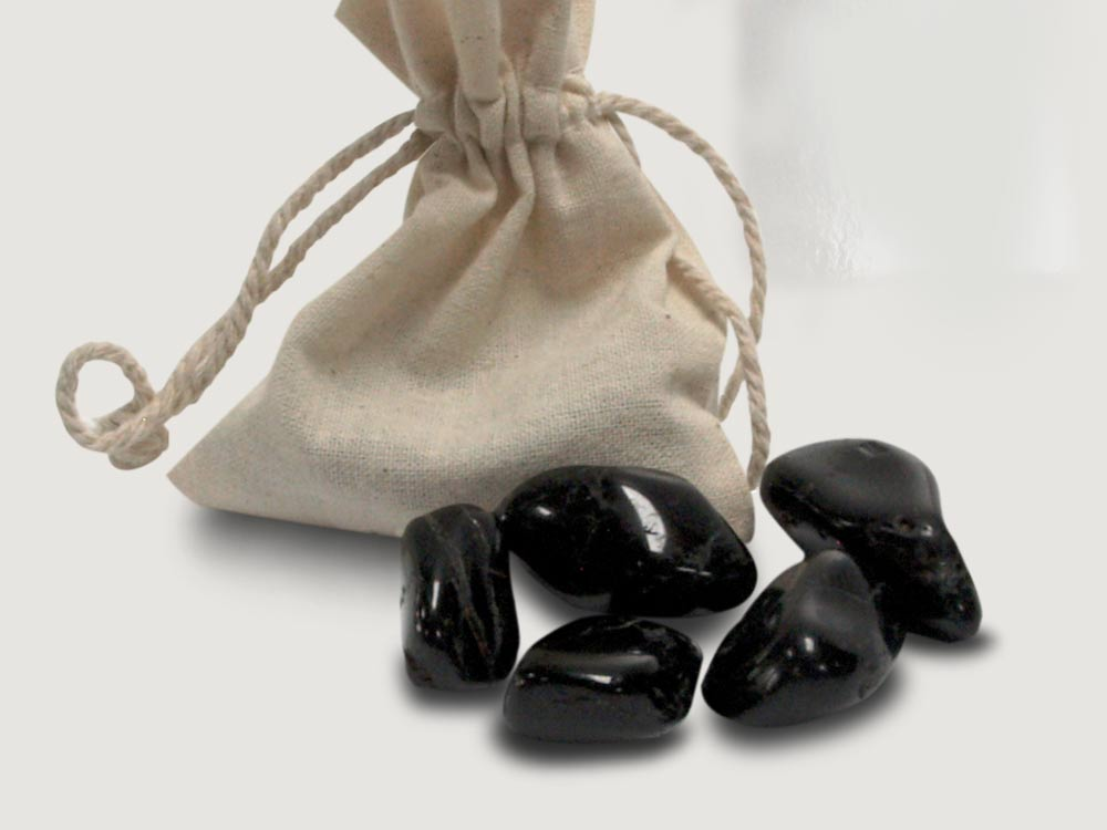 Zakstenen zwarte toermalijn ca 30mm