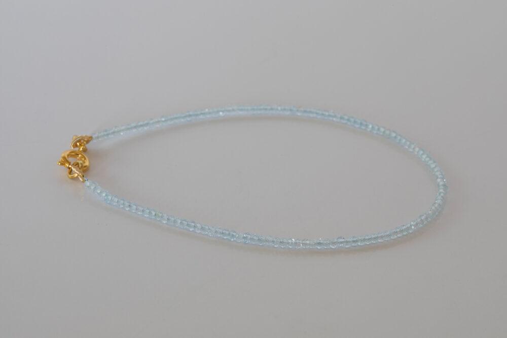 Armband Topaas( Swiss Blue) 2mm