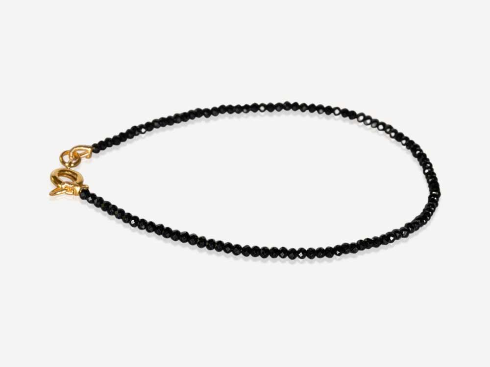 armband zwarte spinel 2mm